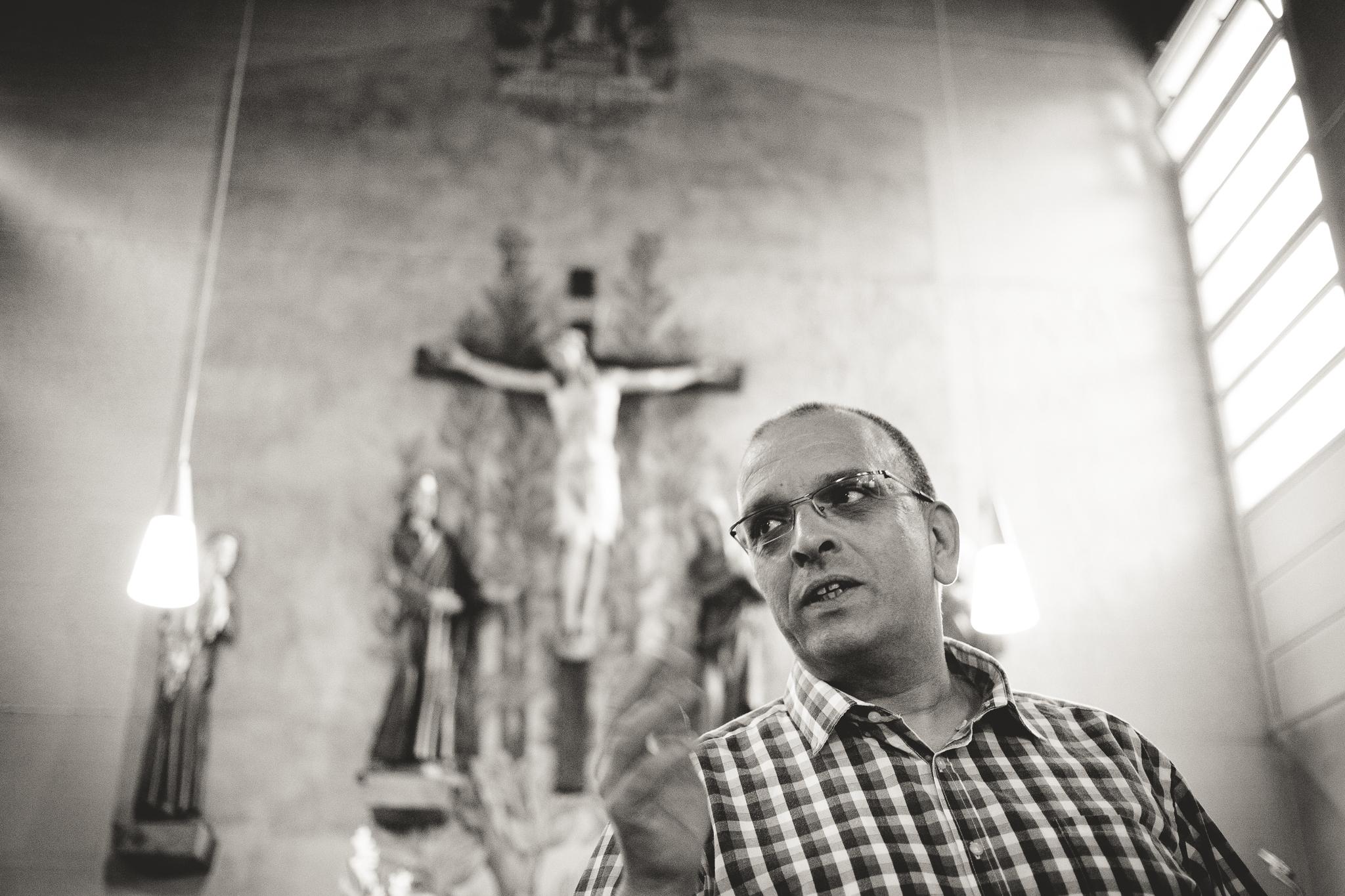Roland Penk hängt an St. Petrus.