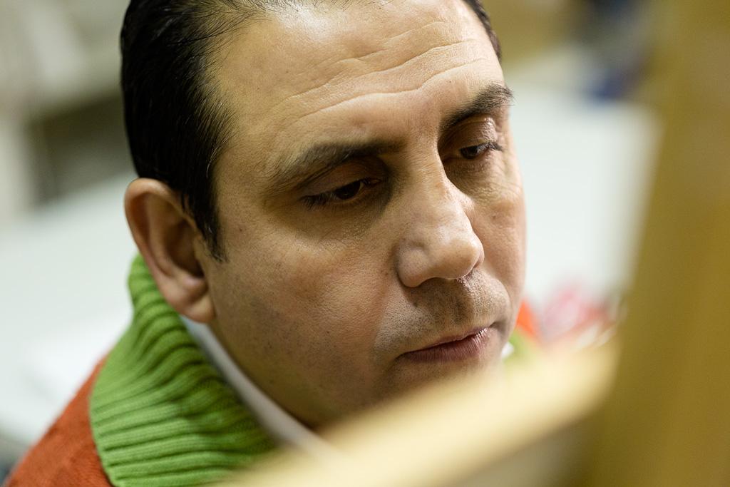 Shadi Hassrouni bei der Arbeit