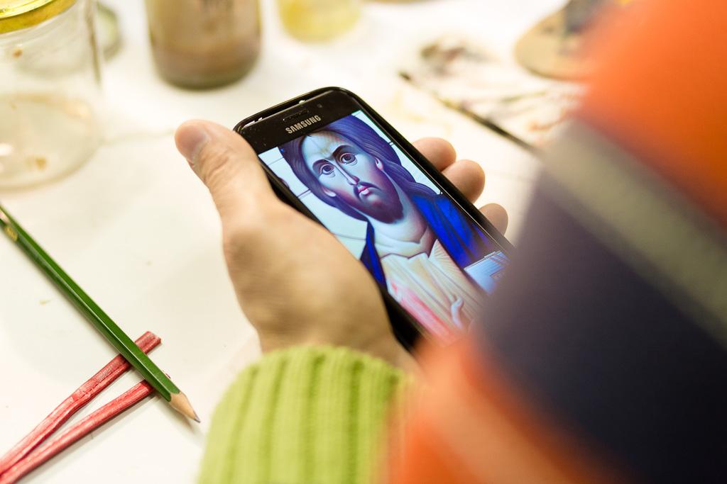 Ikone auf einem Smartphone