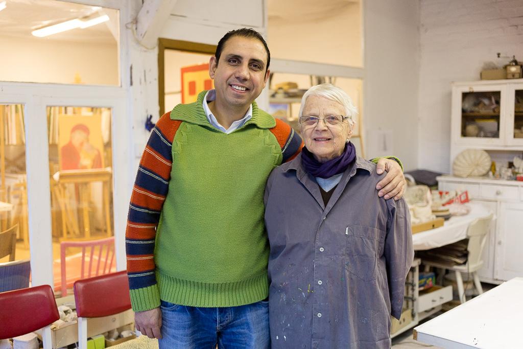 Shadi Hassrouni und Angrit Dorste